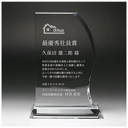 クリスタルガラス製表彰楯 DP-11