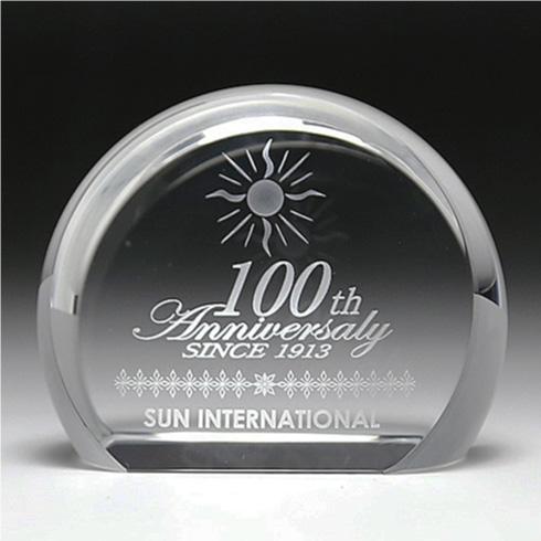 創業・創立・周年記念のお祝い記念品 名入れガラスペーパーウェイト